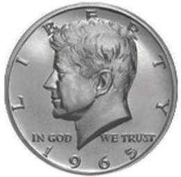 Kennedy Half Dollars, 40% Silver Composition (1965-1970)
