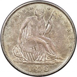 Seated Liberty Half Dollars, First Arrows at Date Removed (1856-1866)