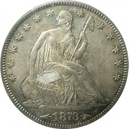 Seated Liberty Half Dollars, Second Arrows at Date (1873-1874)