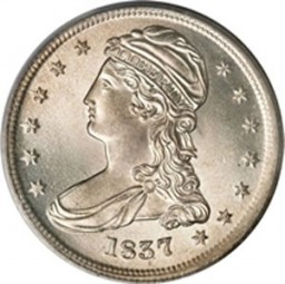 Liberty Cap Half Dollars, Reeded Edge - 50 Cents on Reverse (1836-1837)
