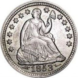 Seated Liberty Half Dimes, Arrows at Date (1853-1855)