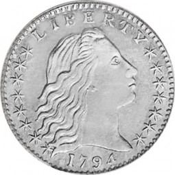 Flowing Hair, Early Silver Half Dimes (1794-1795)