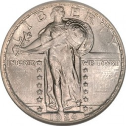 Standing Liberty Quarter Dollars, Type 2 (1917-1930)