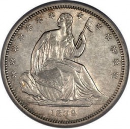 Seated Liberty Half Dollars, No Motto (1839-1853)