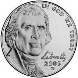 Jefferson Five Cents, Return to Monticello (1938-Present)