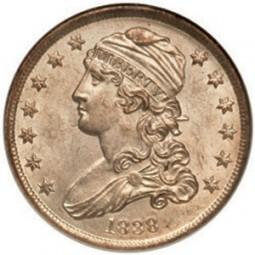 Liberty Cap Quarter Dollars, No Motto (1831-1838)