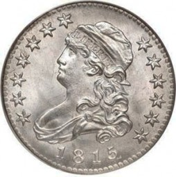 Liberty Cap Quarter Dollars, With Motto (1815-1828)