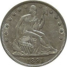 Seated Liberty Half Dollars, Second Arrows at Date Removed (1875-1891)