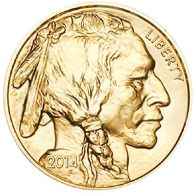 Gold American Buffalo, $25 Half Ounce 24 Karat Gold (2008)