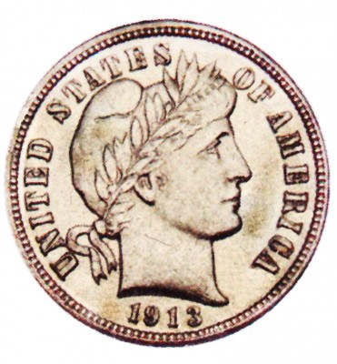 Barber, Early Silver Dimes (1892-1916)