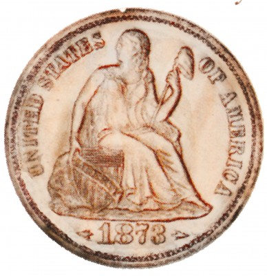 Seated Liberty Dimes, Second Arrows at Date (1873-1874)