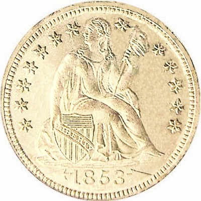 Seated Liberty Dimes, First Arrows at Date (1853-1856)