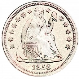 Seated Liberty Dimes, First Arrows at Date Removed (1856-1860)