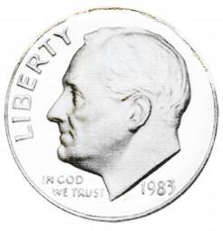 Roosevelt Dimes, Clad Composition (1964-Present)