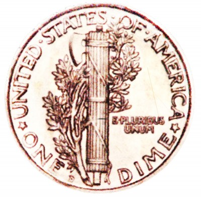 Mercury, Winged Liberty Silver Dime (1916-1945)