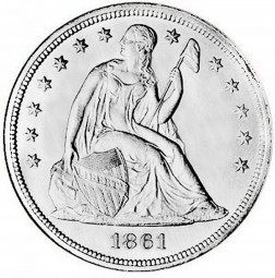 Seated Liberty Dollars, No Motto (1840-1866)