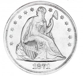 Seated Liberty Dollars, Motto Added to Reverse (1866-1873)