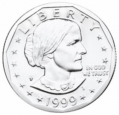 Susan B Anthony Dollars, Clad Composition (1979-1981 + 1999)