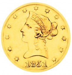 Coronet Head Gold Eagle, Old Style Head No Motto (1838-1839)