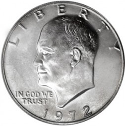 Eisenhower Dollars, Clad Composition Resumed (1971-1978)