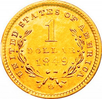 Liberty Head, Early Gold Dollar (1849-1854)