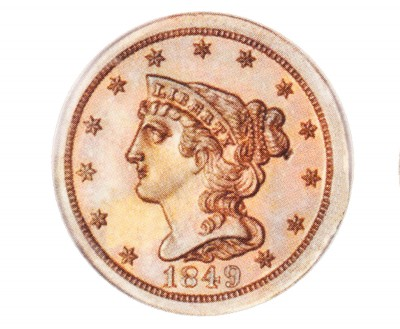 Braided Hair, Early Copper Half Penny (1840-1857)