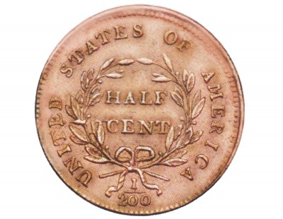 Draped Bust, Early Copper Half Penny (1800-1808)