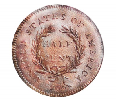Liberty Cap Half Penny, Head Facing Right (1794-1797)