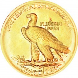 Indian Head Gold Eagle, No Motto (1907-1908)