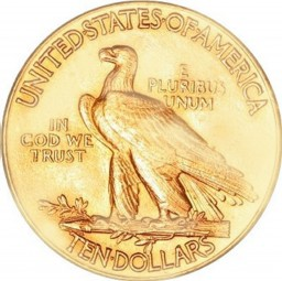 Indian Head Gold Eagle, With Motto (1908-1933)