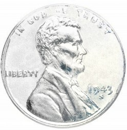 Lincoln Wheat Cent, Steel Composite Penny (1943)
