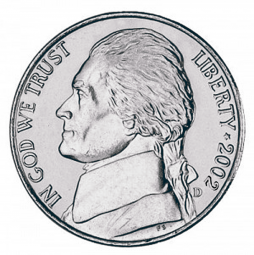 Jefferson Five Cents, Wartime Composition (1942-1945)