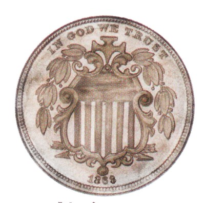 Shield Five Cents, Early Nickels (1866-1883)