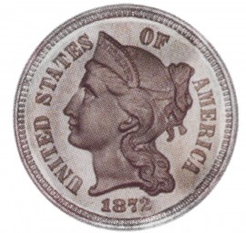 Nickel Three Cent, Copper Nickel Pieces (1865-1889)