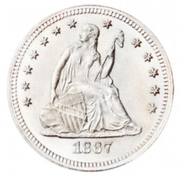 Seated Liberty Quarter Dollars, Motto Above Eagle (1866-1873)