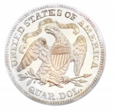 Seated Liberty Quarter Dollars, Second Arrows at Date (1873-1874)