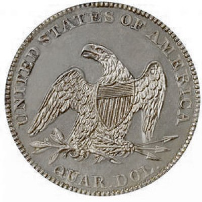 Seated Liberty Quarter Dollars, First Arrows at Date Removed (1856-1866)