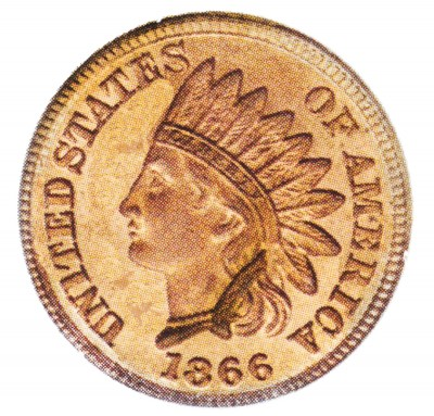 Indian Head Cent, Bronze Composite Penny (1864-1909)