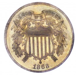 Two cents, Two Cent Pieces (1864-1873)