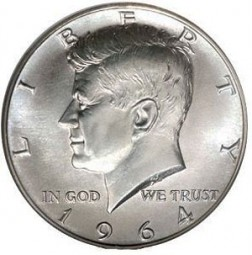 Kennedy Half Dollars, 90% Silver Composition (1964)