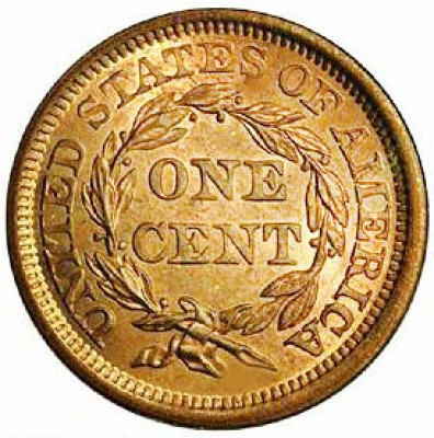 Braided Hair Liberty Head, Early Copper Penny (1839-1857)