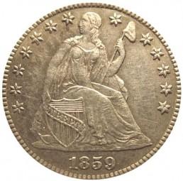 Seated Liberty Half Dimes, Transitional Patterns (1859-1860)