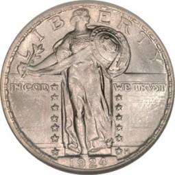 Standing Liberty Quarter Dollars, Type 2 (1917-1930)