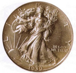 Walking Liberty Half Dollars, Mint Mark on Reverse (1917-1947)