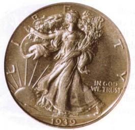 Walking Liberty Half Dollars, Mint Mark on Obverse (1916-1917)