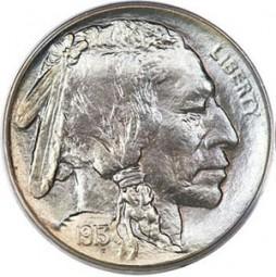 Buffalo Five Cents, Mound Type (1913)