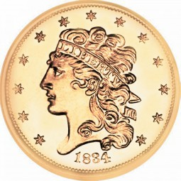 Liberty Without Turban Half Eagle, No Turban (1834-1838)
