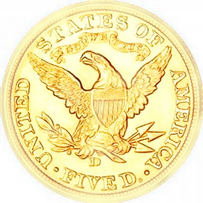 Coronet Head Half Eagle, With Motto (1866-1908)
