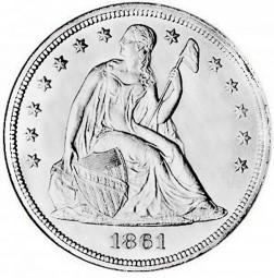 Seated Liberty Dollars, No Motto (1840-1866)