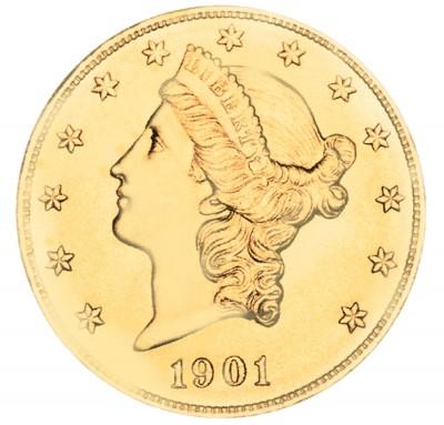 Coronet Head Gold Double Eagle, Twenty Dollars (1877-1907)